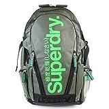 Superdry スーパードライ バックパック リュック Tarp Pop Zip 極度乾燥しなさい メンズ 日本未上陸 レア Backpack (カーキ✕グリーンロゴ) [並行輸入品]