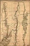 マップ: 1777a地形図のHudsonsの川、奥行チャンネルの水、岩、Shoals & C。国の隣接する、sandy-hookから、ニューヨーク、ベイto Fortエドワード・、もの通信