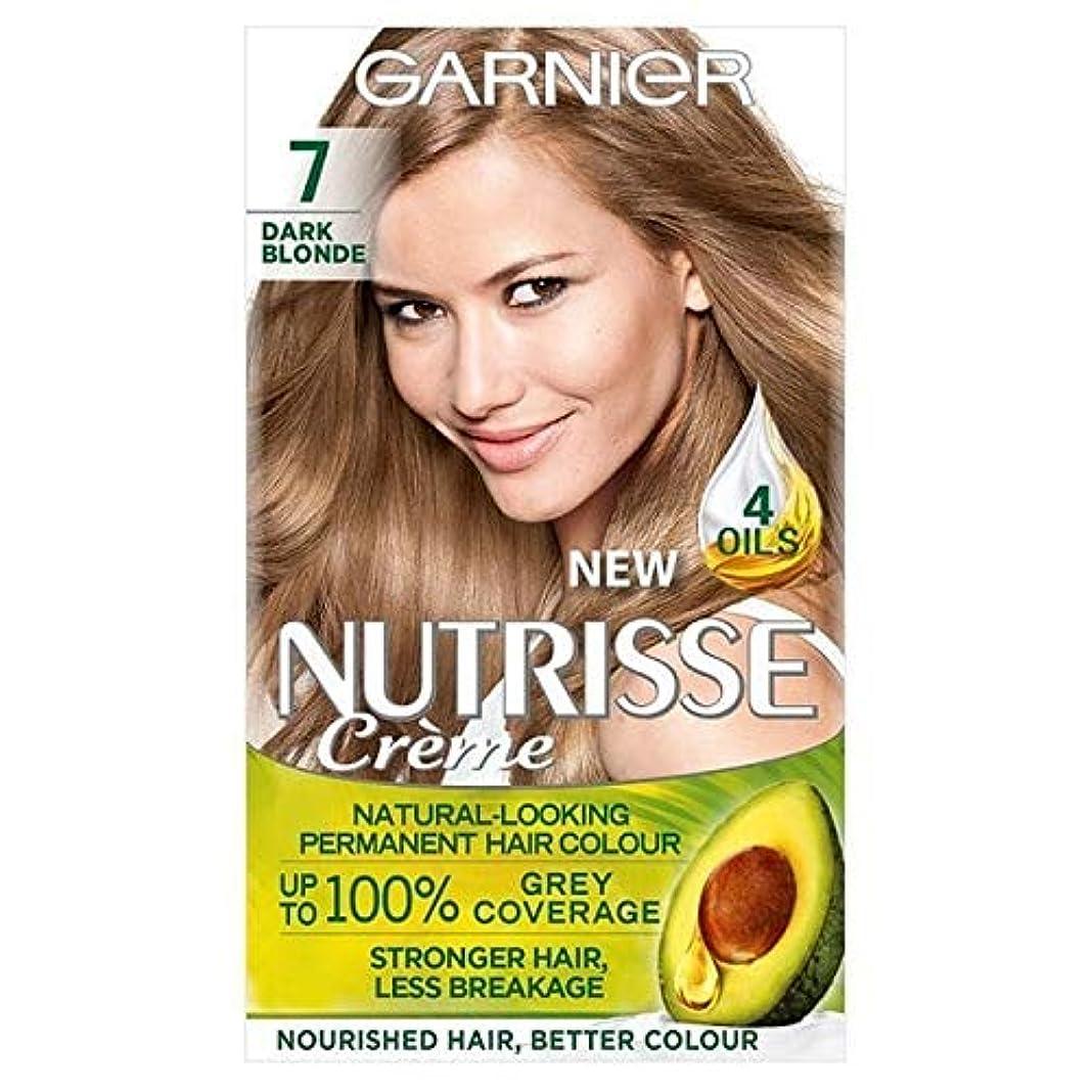 横輸血思慮深い[Garnier ] ガルニエNutrisse永久染毛剤ダークブロンド7 - Garnier Nutrisse Permanent Hair Dye Dark Blonde 7 [並行輸入品]