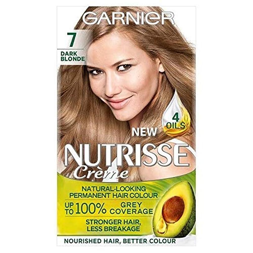 解釈写真聴覚[Garnier ] ガルニエNutrisse永久染毛剤ダークブロンド7 - Garnier Nutrisse Permanent Hair Dye Dark Blonde 7 [並行輸入品]