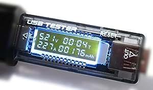 レメカニケ USB Detector QC3.0対応 電流(A) 電圧(V) 累計容量(mAh) 累計時間(分) 簡易チェッカー