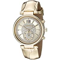 Michael Kors Women's Sawyer Gold-Tone Watch MK2444