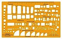 Linograph電気および配管テンプレート衛生器具図面スケール オレンジ