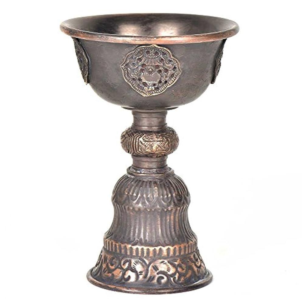 シロクマかなり関数IndianShelfハンドメイド真鍮アンティーク真鍮カップ型Incense Burner withハンドルスタンド文Piecesオンライン