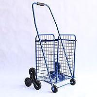 クライミング階段カートポータブル折りたたみトロリー車トロリー高齢者ハンド荷物カートトレーラー (色 : Blue2#-32 * 29 * 88)