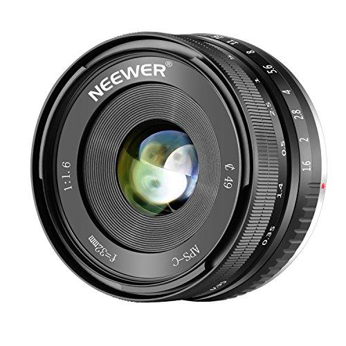 Neewer 32mm F/1.6 手動フォーカスプライムレンズ Sonyミラーレスカメラに対応