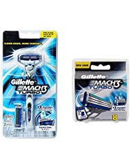 Gillette MACH3 Turbo カミソリ1+ブレード10カートリッジBLADES [並行輸入品]
