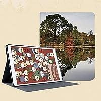 新しい ipad mini 5 ケース 2019年 7.9 き高級感PUレザー TPU オートスリープ機能付き 対応ケース 手帳型ケースカバー マグネットス吸着式 オートスリープ機能 軽量緑豊かな秋の森は穏やかな湖を反映して木の種類の異なるから成っています
