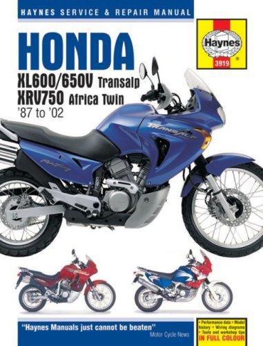 Honda Xl600/650v Transalp, Xrv750 Africa Twin '87 to '02 (Haynes Service & Repair Manual)