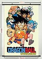 U LikeドラゴンボールZ Gokuアニメアートシルク生地スクロールポスター壁スクロールリビングルーム装飾07
