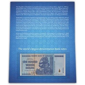 100兆ジンバブエドル ケース付き 紙幣