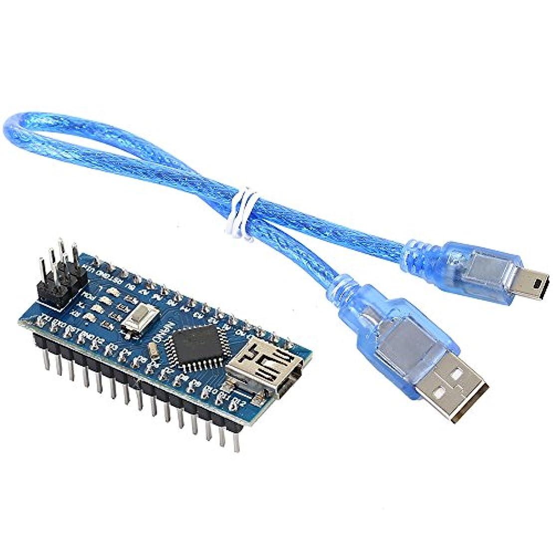 部門ブーム援助Yakamoz Nano v3 . 0 atmega328 ch340g Mini USB 16 M 5 Vマイクロコントローラドライバ開発ボードモジュールケーブル付きfor Arduino