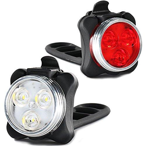 自転車ライト LEDヘッドライト USB充電式 防水 高輝度 超小型 テールランプ セーフティライト 自転車前照灯 フロントライト テールライト付