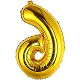 風船 数字 90cm アルミ バルーン おしゃれ ゴールド シルバー パーティー小物 結婚式 誕生日 パーティー プロポーズ 披露宴 記念日に適用 おしゃれ バルーン 大きいサイズ