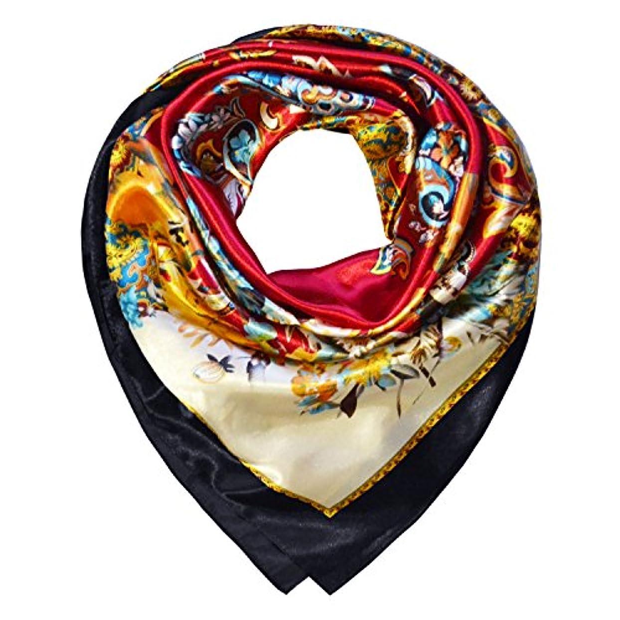 特に悲しいことに説得力のある(トニー&カンディス) TONY & CANDICE 女性用100%ポリエステル繊維のスカーフでシルクの手触り84cm×84cm