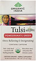 Tulsi Tea Pomegranate Green - 18 Tea Bags - Case of 6 by Organic India
