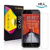 【12ヶ月保証 2枚セット】iPhone7 / iPhone8 用 ガラスフィルム 強化ガラス 液晶保護フィルム 3D Touch対応 硬度9H 気泡ゼロ 高透過率 飛散/指紋防止