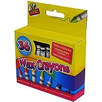 (アートボックス) ArtBox 36色 ワックスクレヨン クレヨン削り付き クレヨン 絵具 (ワンサイズ) (マルチカラー)