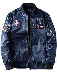 APTRO(アプトロ)ミリタリージャケット メンズ 中綿 両面着 ジャンパー 秋春冬 ブルゾン カジュアル 刺繍ワッペン フライトジャケット