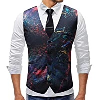 Mens for Wedding Patterns Formal Dress Waistcoat Button Down Casual Vest