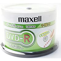DVD-R 50枚 スピンドル 日立 マクセル インクジェットプリンター対応 4.7GB 16倍速 データ用 ノーマルプリンタブル DVDR |DR47PTND.50SP