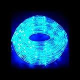 イルミネーション 防滴 10M 360球 LEDチューブライト (全5色) (ブルー)