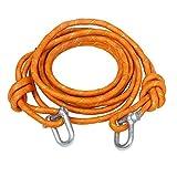 オートヴィヴィッド 緊急ロープ けん引ロープ 5m 8t D型シャックル付き オレンジ