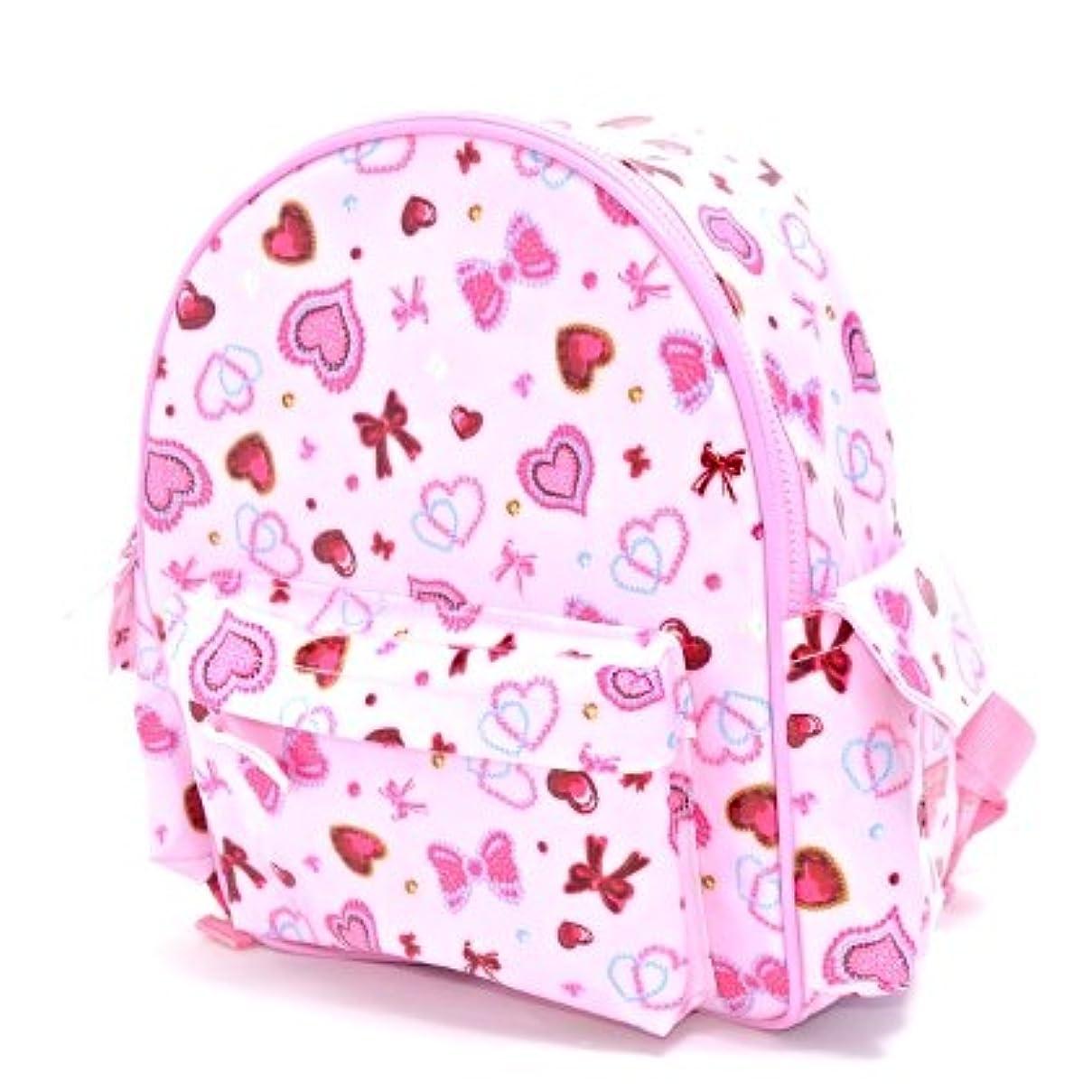 経済的おじいちゃん謝罪する通園リュック ハートとリボンのきらきらビューティー(ピンク) 入園グッズ 幼稚園バッグ 保育園バッグ