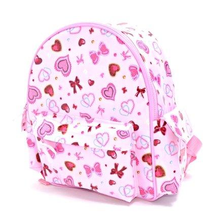 いつも一緒のmy通園リュック ハートとリボンのきらきらビューティー(ピンク) 日本製 N0617600
