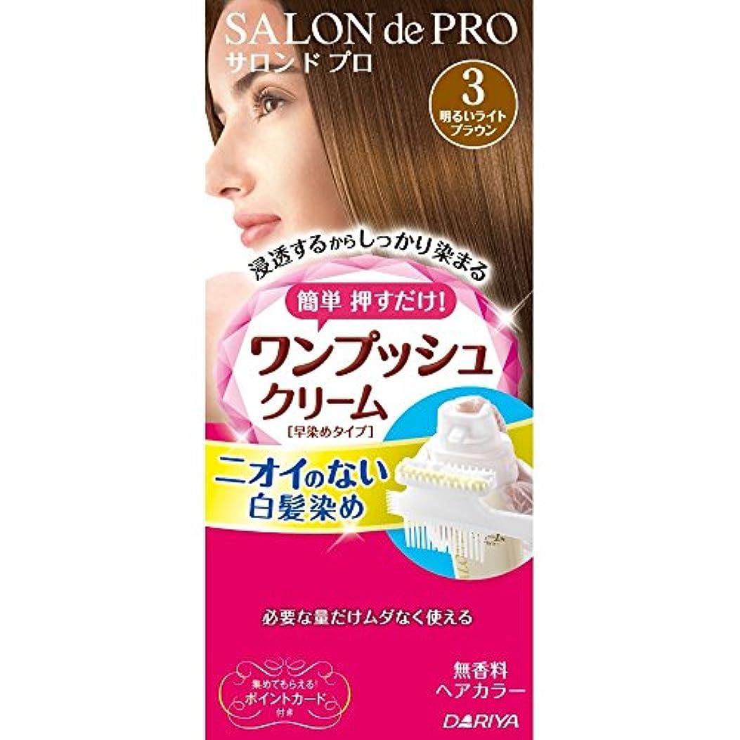 ポンペイ頑張る繊毛サロンドプロ ワンプッシュクリームヘアカラー 3 40g+40g