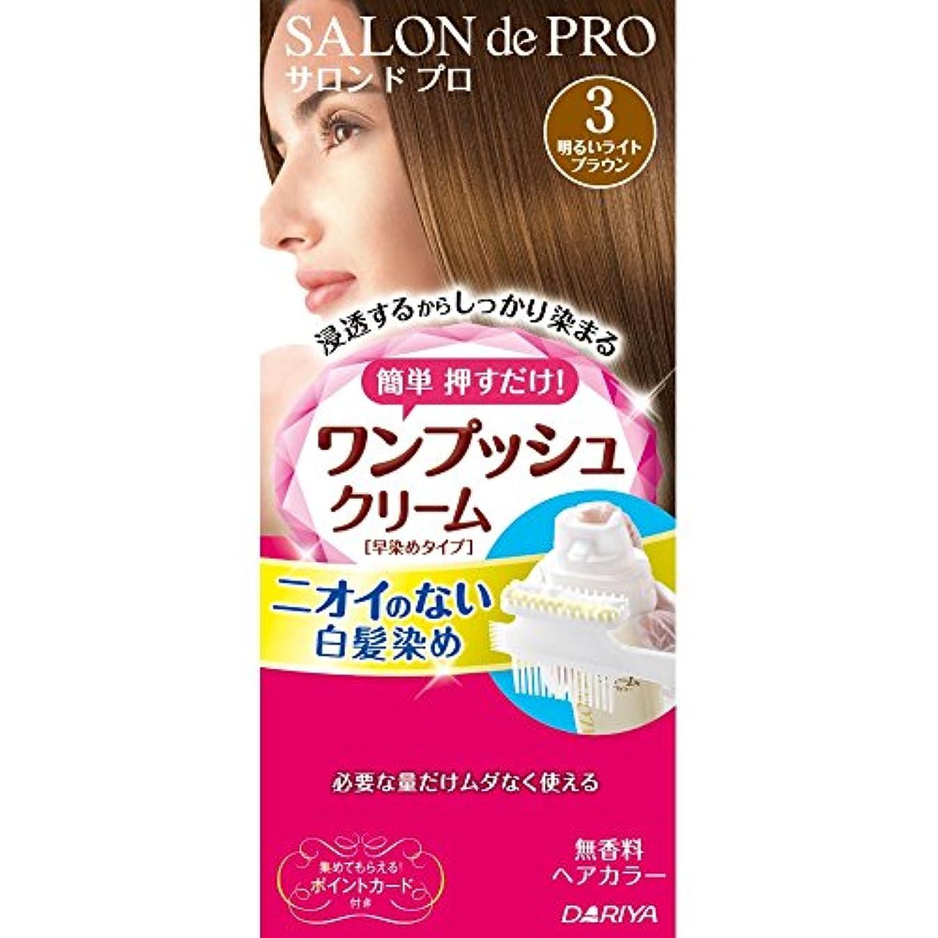 序文災害血サロンドプロ ワンプッシュクリームヘアカラー 3 40g+40g