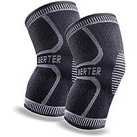 BERTER 膝サポーター 高齢者 スポーツ 保温 関節 靭帯 筋肉保護 通気性 伸縮性 ランニング 登山運動用 怪我防止S-XL