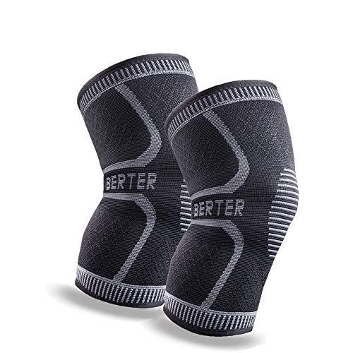 BERTER 膝サポーター 高齢者 スポーツ 両枚入 保温 膝保護 通気性 伸縮性 ランニング 登山運動用 怪我防止M