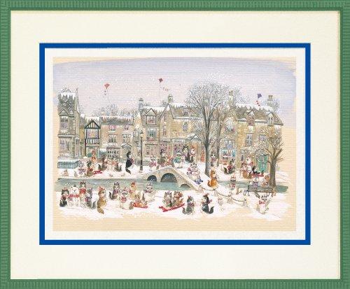 ダイアン エルソン ジグレー版画 冬のコッツウォルズ 80-0008