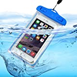 ONX3 (Baby Blue) ZTE V5 Lux ユニバーサルトランスペアレントモバイルセルスマートフォン、パスポート、お金水中防水保護袋タッチレスポンス