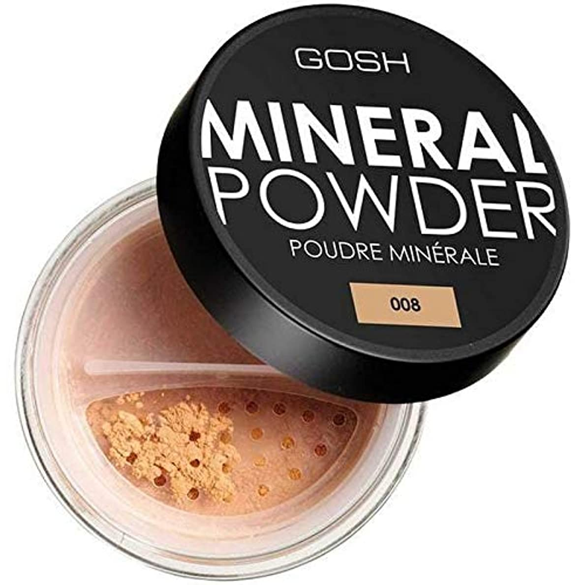 統治するハンディワードローブ[GOSH ] おやっミネラルフルカバーファンデーションパウダー日焼け008 - GOSH Mineral Full Coverage Foundation Powder Tan 008 [並行輸入品]