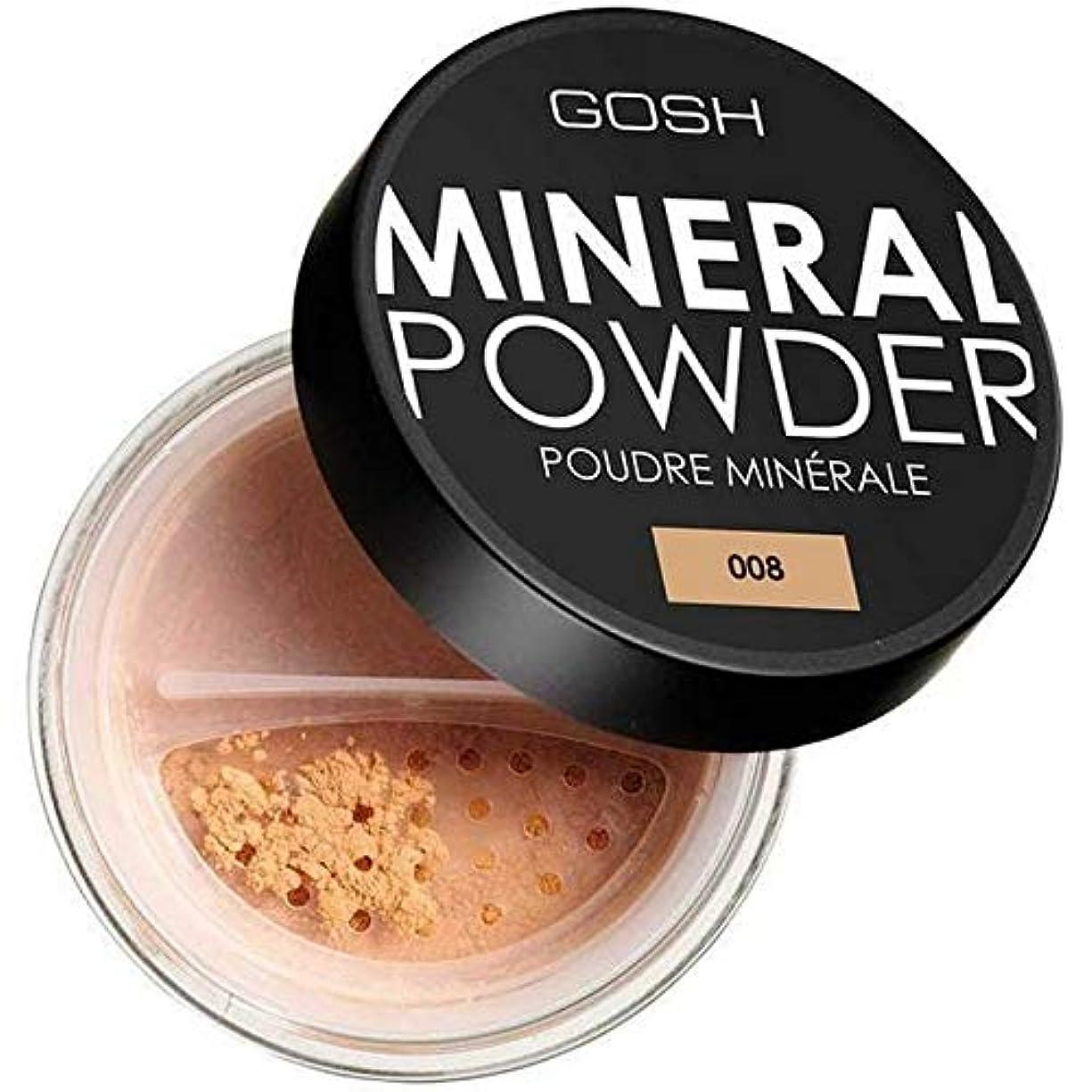 脚本ドラム空中[GOSH ] おやっミネラルフルカバーファンデーションパウダー日焼け008 - GOSH Mineral Full Coverage Foundation Powder Tan 008 [並行輸入品]