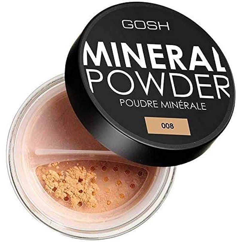 インテリアマウス滑る[GOSH ] おやっミネラルフルカバーファンデーションパウダー日焼け008 - GOSH Mineral Full Coverage Foundation Powder Tan 008 [並行輸入品]