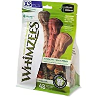 Whimzees TOOTHBRUSH Star Dental Care Treats All Natural Dogs EXTRA SMALL