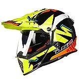 オフロード バイクヘルメット ヘルメット バイク用 バージョン ダブルシールド PSC付き  YHZ-98[商品02/L]