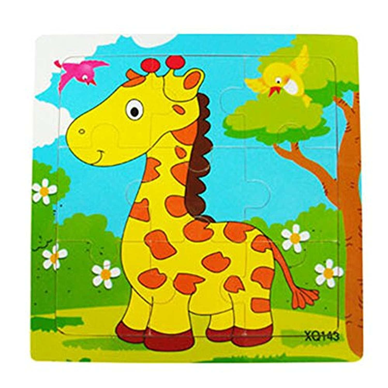 floralbyジグソーパズルトイ幼児用子供用カラフル木製早期教育玩具ギフト Giraffe# Floralby-321