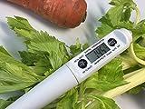 [NET-O]デジタル温度計 【料理用温度計】衛生的キャップ ホワイト (ホワイトキャップあり)…