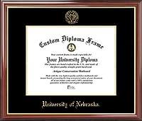 大学のネブラスカCornhuskers–エンボスシール–マホガニーゴールドトリム–卒業証書フレーム
