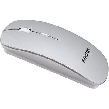 Bluetooth マウス 薄型 小型 無線 携帯 ブルートゥース マウス ワイヤレス 充電式 噪音なし 軽量 (銀)