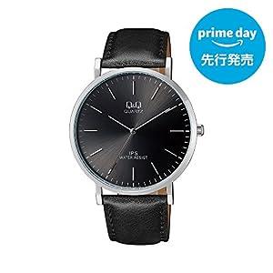 [シチズン キューアンドキュー]CITIZEN Q&Q 腕時計 アナログ 革ベルト 海外モデル ブラック QZ02J302 メンズ [プライムデー先行発売]