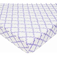 American Baby Company 100% Cotton Percale Fitted Crib Sheet, Lavender Moroccan by American Baby Company