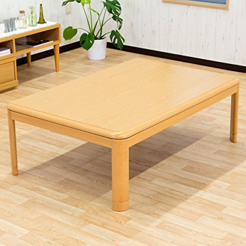 家族団らん 万能こたつテーブル 「明里」 120×80 リビングテーブル 日本製ヒーター ナチュラル色