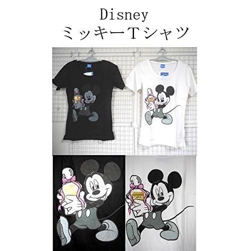 Disney ミッキーTシャツ  <  ミニーマウス ミッキーマウス ミニーーTシャツ ミニー MINNIE Tシャツ minnie  T ミッキー mickey MICKEY MOUSE ディズニー ディズニーランド > (ホワイト)