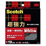 3M スコッチ 超強力両面テープ 金属用・一般材料用 19mmx10m PVG-19