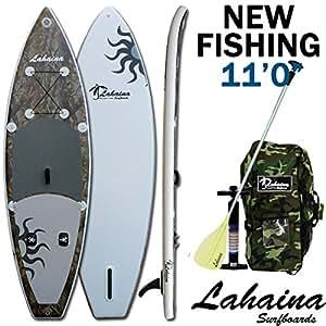 SUP サップ インフレータブルパドルボード ラハイナフィッシング/LAHAINA NEW FISHING 11' 釣り用SUP カモ/グレー